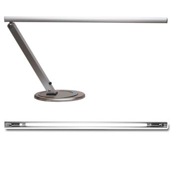 Stylish work lamp  incl. bulb (silver)