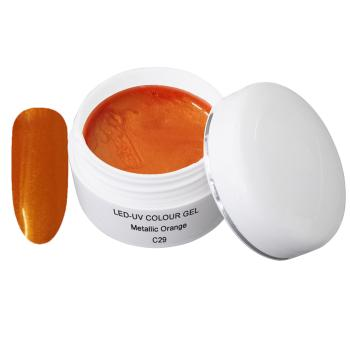 UV Farbgel - C29 Metallic Orange- 5 ml - UV Farb Gel - Color Gel - UV Gel