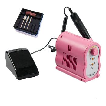 JSDA Electric Nail Drill  JD 105-H with foot pedal - Color pink -JSDA Professional Studio Nail Drill for manicure and pedicure 35000 rpm