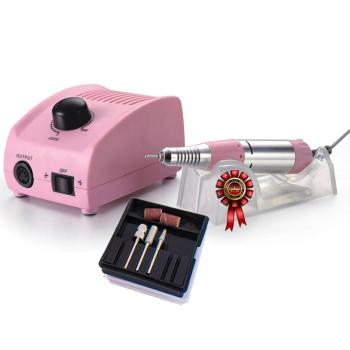 JSDA Electric Nail Drill  JD 200 Color pink - JSDA Professional Studio Nail Drill for manicure and pedicure 30000 rpm