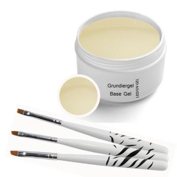 UV Gel Classic Bonding Gel 30 ml incl. 3 pcs. Brush set