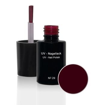 UV Nagellack  N°29 Dark Red - 6 ml - UV Gel Lack - Gellack - Hybridlack
