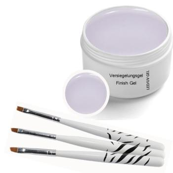 UV Classic Finish GEL 30 ml - incl. 3 pcs. Brush set