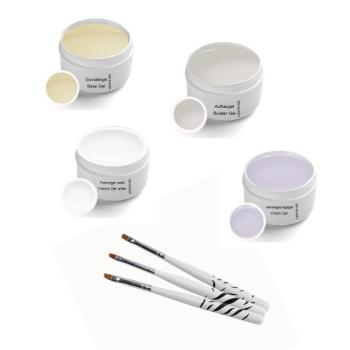 UV Gel Set Classic 5ml incl. Brush Set