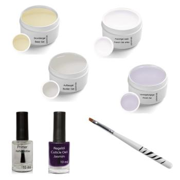 UV Gel Set 4 x 5ml incl. Cuticle Oil, Primer, Gel brush