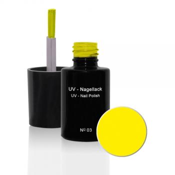 UV Nagellack N°03 Sunshine Yellow - 6 ml - UV Gel Lack - Gellack - Hybridlack