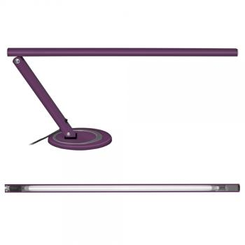 Stylish work lamp incl. bulb in purple